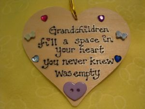 SALE** WAS £3.99 Grandchildren Fill A Space In Your Heart Shabby Chic Unique Wooden  Heart Sign Plaque Gift for Grandparents